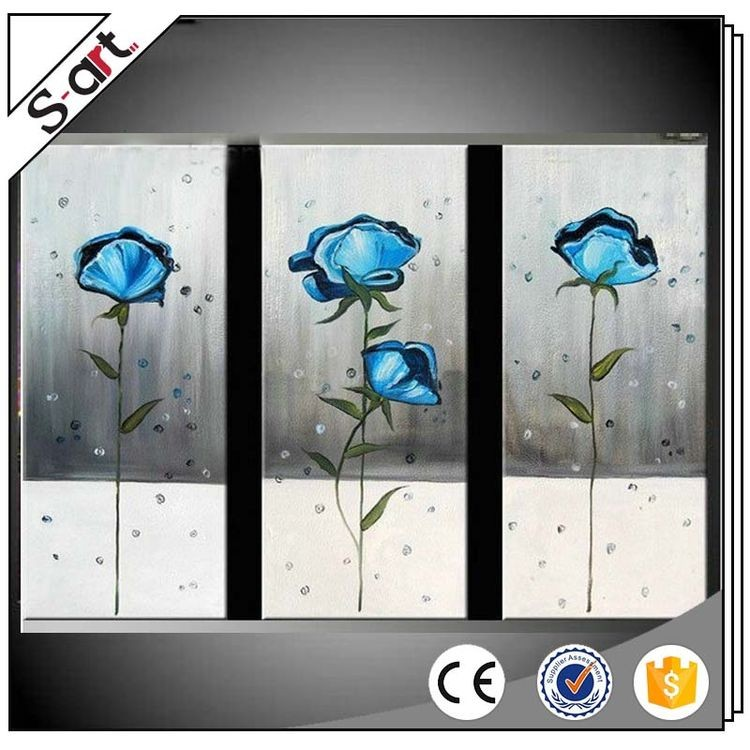 New style modern professional 3d flower group oil painting