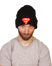children knitted beanie kids superman hats