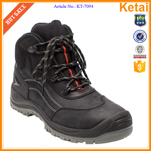 Mens middle cut buffalo leather Engineering safety shoes price in india Water resistant safety boots men S3