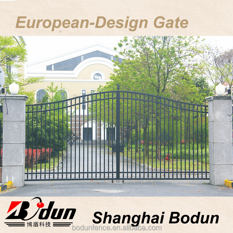 Outdoor simple steel gate design for farm gates