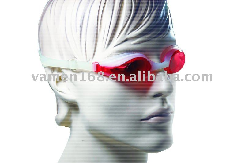 fashionable silicone video swimming goggles
