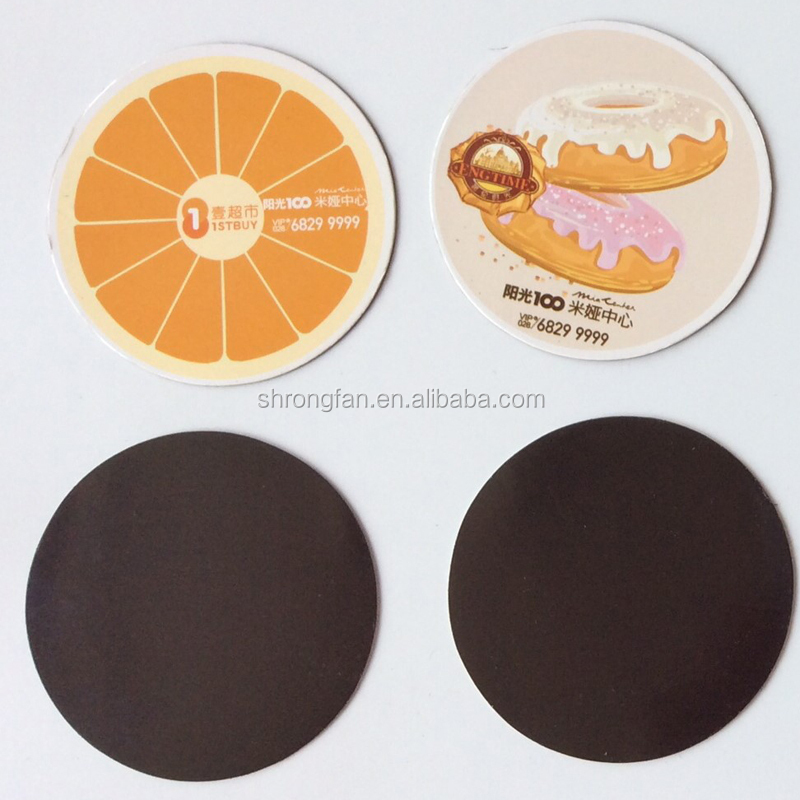 Custom Round Shape Fridge Magnetic Sticker Refrigerator Magnet Printing