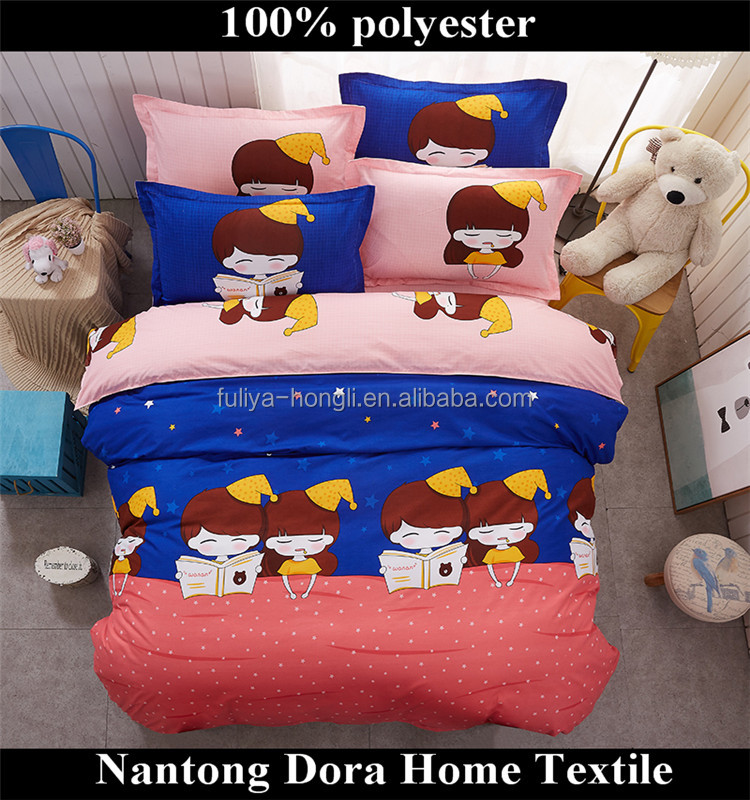 100% polyester fancy bedding, home goods kids/adults bedding, Twin Quilt Cover Set