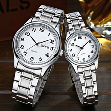 Luxury Sports Analog Quartz Casual Fashion Steel Strap Wristwatches chinese couple watch Gift Watch