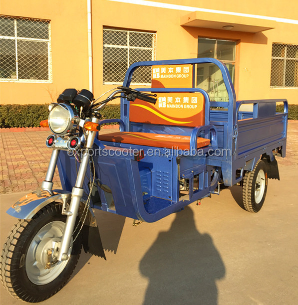 Newest High quality petrol truck cargo tricycle with van with good price