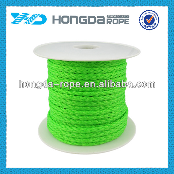 8mm X 100 m hollow braid polyethylene rope & Neno Green