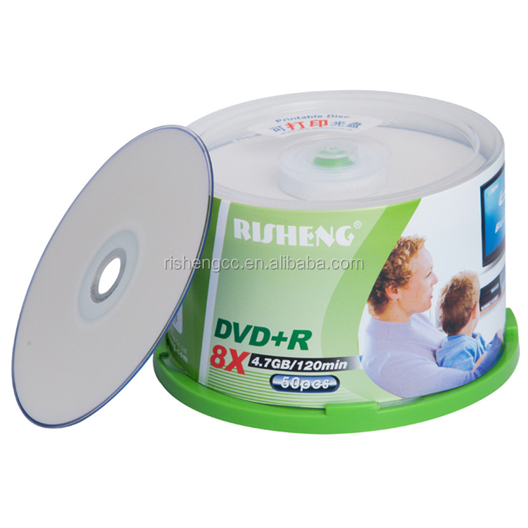 RISENG blank 4.7GB hard disc dvd/printable dvd r 8x 4.7gb dvd/Grade A+ virgin dvd