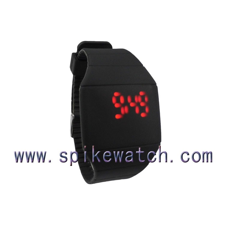 Magic Touch Screen Red LED Digital Date Men Women Blue Sport Cuff Wrist Watch