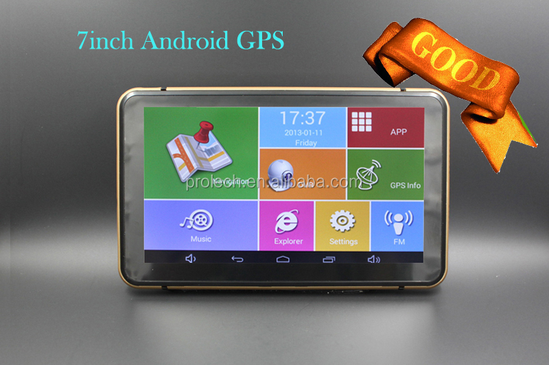 7inch smart Android GPS with WIFI, Bluetooth, FM, AV-in GPS-7001#S0002