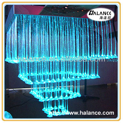 modern chandelier 2012 with crystal fiber optic pendant light
