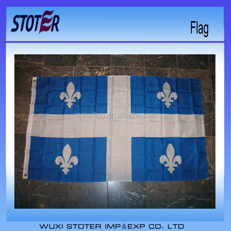 Custom flag Quebec Canada Canadian Province Flag 3'x5'