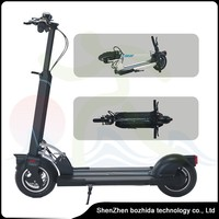 skateboard folding electric scooter cheap foldable electric scooter with handle 10 inch black white folding mini