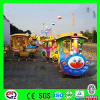 Romantic garden train!! kids electric amusement metal christmas train on sale
