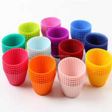Premium Reusable Muffin Molds Container Silicone Baking Cups Cupcake