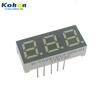 0.28 inch 3 digit 7 segment LED display with various colors and high luminous colors are available