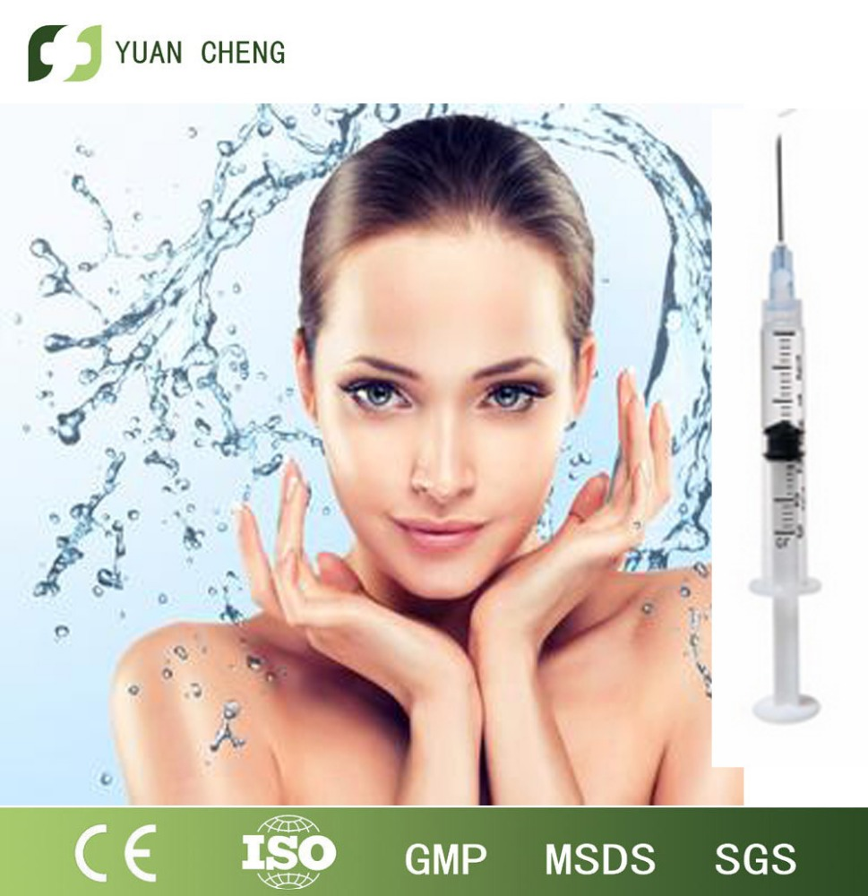 Hyaluronic acid cross-linked syringe for anti aging injections