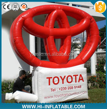 Inflatable Toyota logo famous brand billboard promotional event for advertising