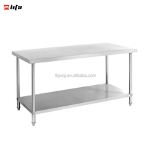 "Stainless Steel Commercial Kitchen Prep & Work Table w/ Backsplash - 72"" x 30"""