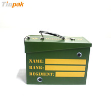 Wholesale customized military tin box with handle