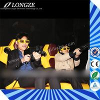 best quality hydraulic system Gun games Strong Impact Newest concept 18 seats 7d dynamic cinema