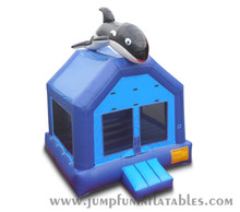 Top with huge Blue Whale Inflatable Bouncer,sea world Inflatable castle cetacean Jumping bouncy house