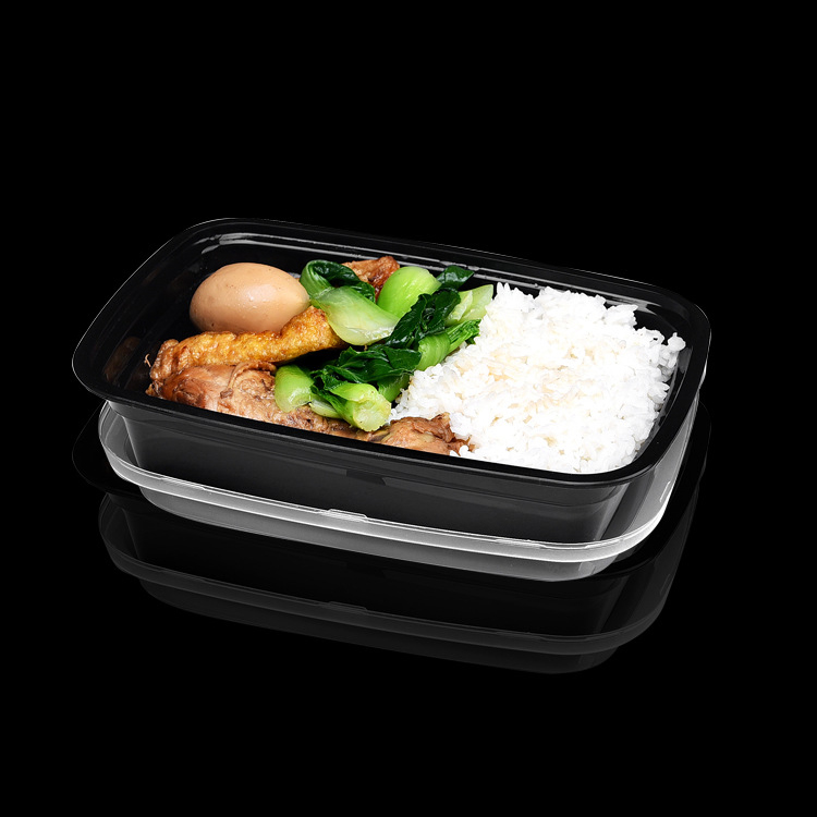 Restaurant Disposable 750ml take out plastic Food Containers with Lids