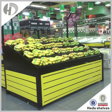 Double Side Grocery Store Custom supermarket fruit and vegetable display shelf