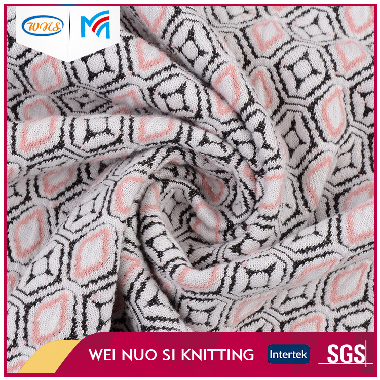 Cheap price fancy wrap custom design milano knit fabric