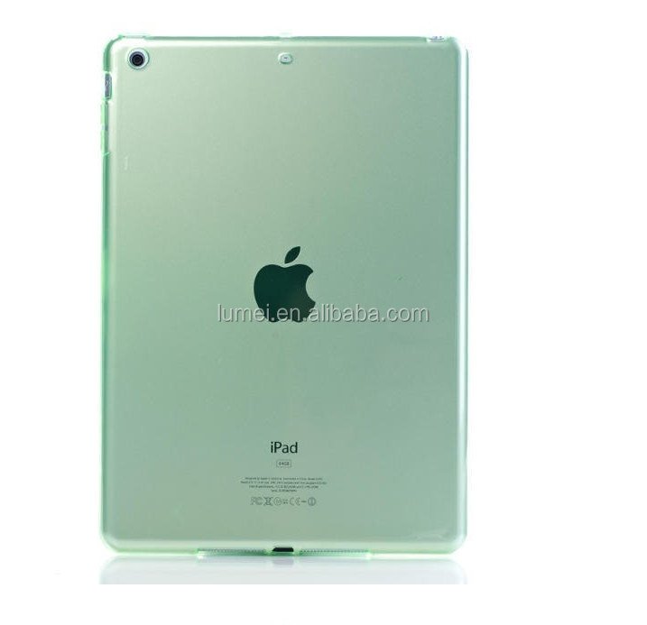 Colorful Clear Soft TPU Back Tablet Gel Case Cover for iPad Air