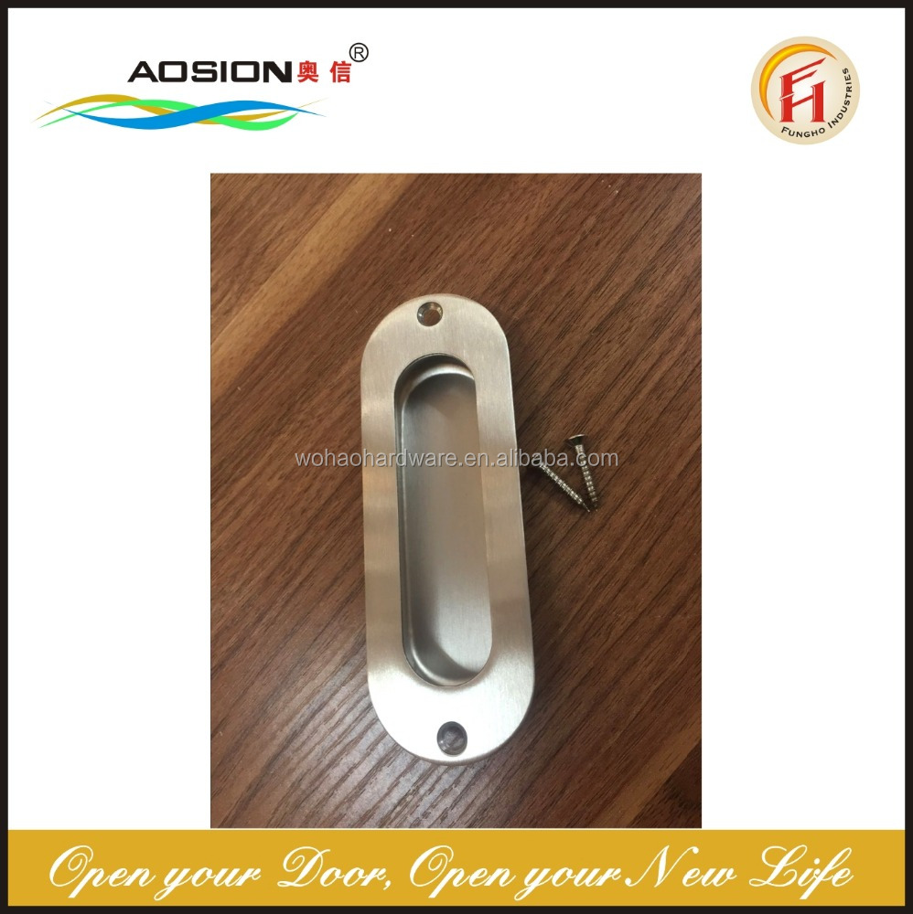 Stainless steel 304 grade kitchen cabinet hidden door handle