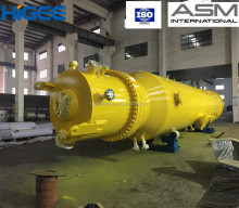 A super gravity Seawater Deaeration Device for marine oil field water injection