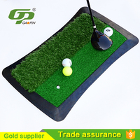 China good quality price rubber with tee golf driving mat GPST014