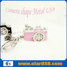 Colorful Camera shape Metal USB 4GB,mini jewely key ring usb drive