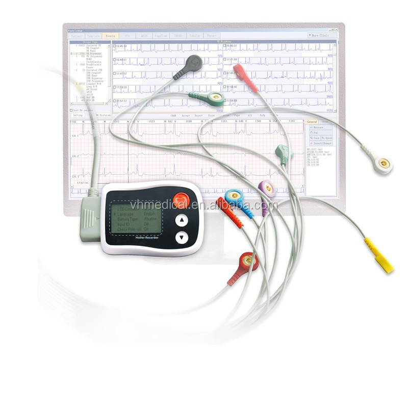 Holter ECG Monitor with LCD CV3000
