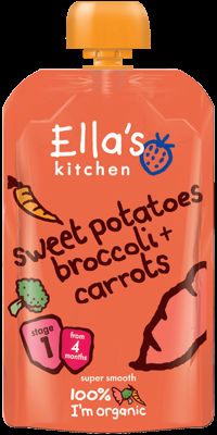 Ella's Kitchen Sweet Potato with Broccoli and Carrot 120g Stage 1 (4 months+)