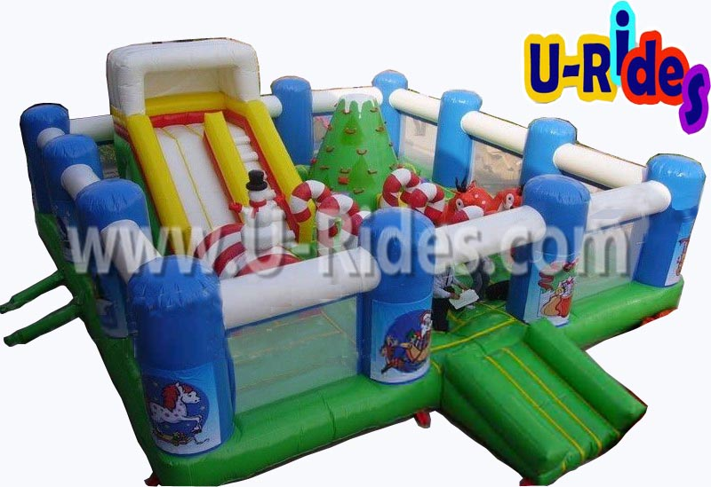 Christmas inflatable playground for shopping mall