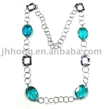 Fashion Necklace with blue stone