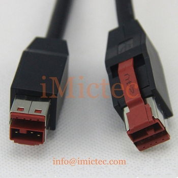 Customizable 24V Powered USB male to male coiled cable for POS printing terminals,devices