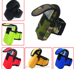 Cellphone running armband bag pouch for iPhone, for iphone 6 sports jogging armband bag case neoprene lanyard arm bag