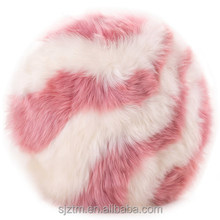 cheaper price lambskin fur body pillow for decoration