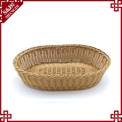 Fancy oval shape environmental wicker empty fruit basket