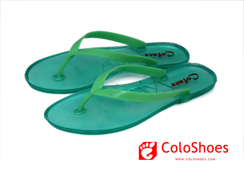 Coface virid shoes pvc strap jelly sandalias