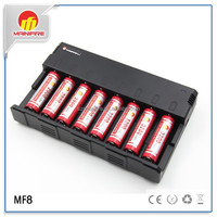 8Slot AA/AAA NiMH/NiCd 18650 Battery MF8 Smart Charger from Mainifire/18650 li-ion battery charger 3.7v