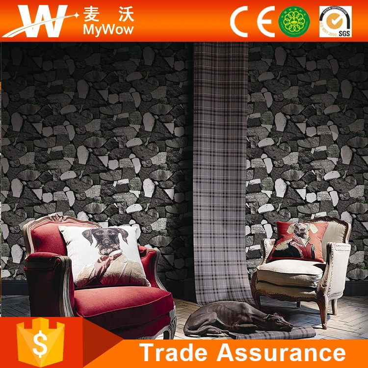 China Suppliers Restaurant 3d Bricks Wall Paper Rolls Decoration