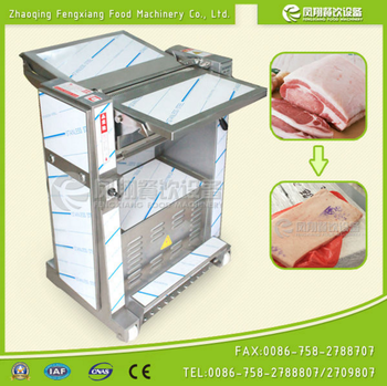 Peeling Type Pig Skin Removing Machine Pig Meat and Skin Separating Machine with adjustable peeling thickness