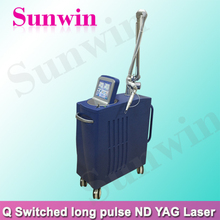 Perfect effective Skin Whitening Q Switch Nd Yag Laser Machine 1064nm 532nm laser tattoo