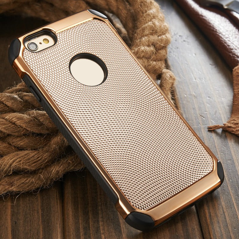 for IPhone 6 Cases Covers, 2016 China Supplier iCase Leather+Metal Case for iPhone 6 6s, for IPhone6s