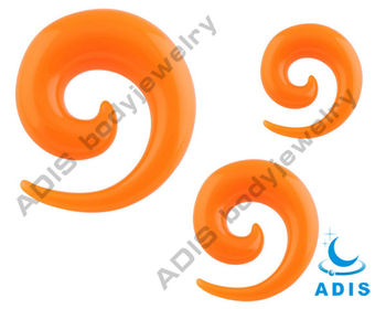 UV Neon Acrylic Trial Spiral Tapers Ear Gauges