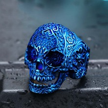 BR8-071 Dvacaman Size 7-13 Stainless Steel Skeleton ring skull punk biker ring fashion jewelry