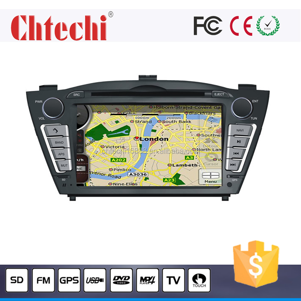 Car dvd player for 2010 Hyundai ix35 with GPS/TV/AM/FM/Bluetooth/Radio Android 4.4.4 and Wince 6.0 system